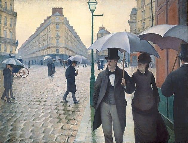 629px Gustave Caillebotte   Jour de pluie a Paris - Romeo und Julius am Freitag, 28.08.2020 ☁️☁️🌒☁️
