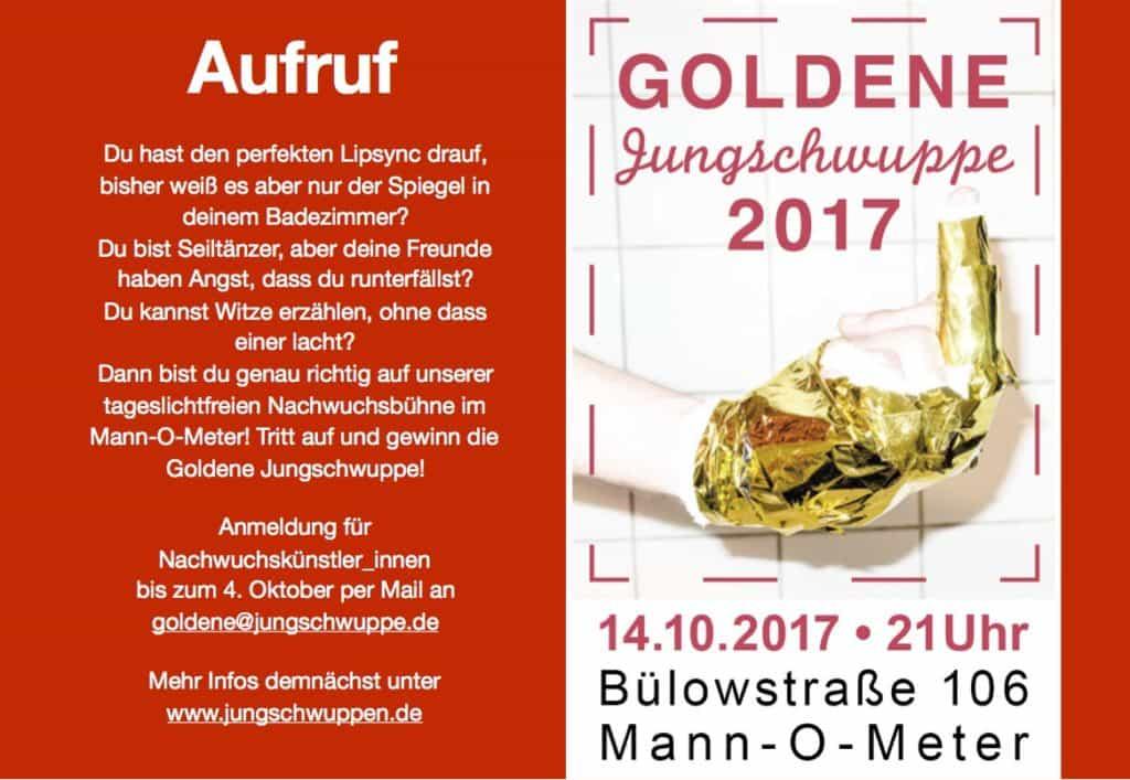 Aufruf 1024x707 - Aufruf zur Goldenen Jungschwuppe 2017
