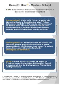 MMS Flyer zur Studie 212x300 - Studie zu Lebenssituationen schwuler & bisexueller Muslime in Deutschland