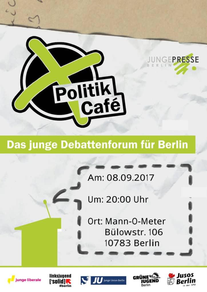Politikcafe 724x1024 - Romeo & Julius am Freitag, 8.9.: Politikcafé@Mann-O-Meter