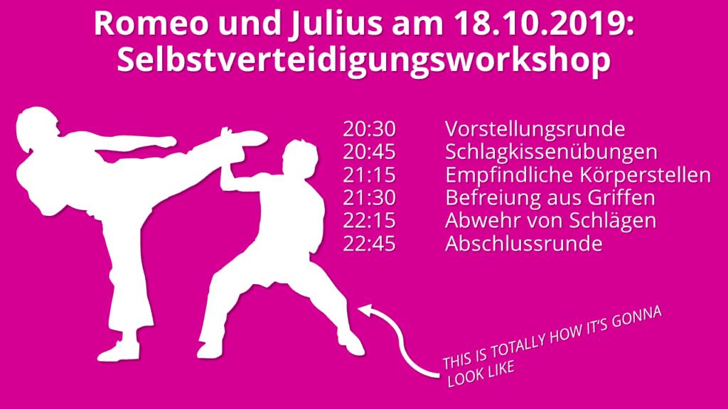 Selbstverteidigungsworkshop 1024x576 - Romeo und Julius am 18.10.: Selbstverteidigung!