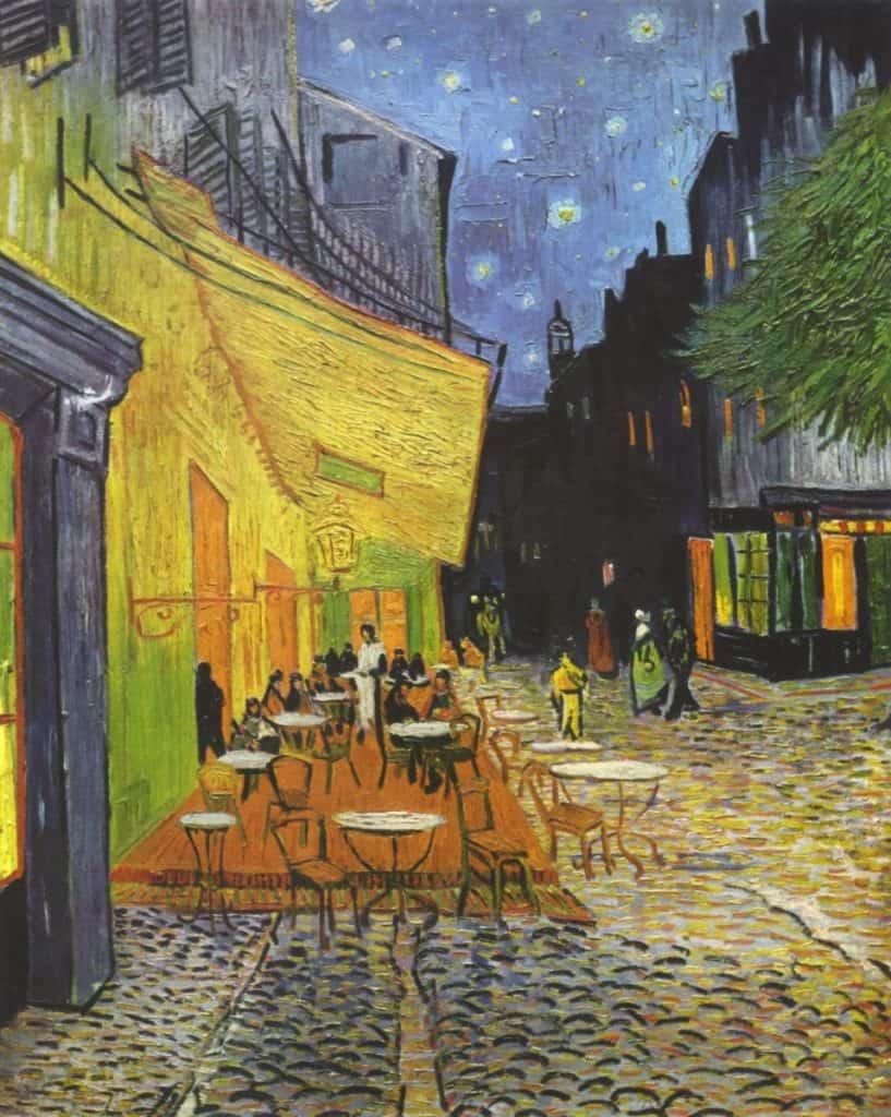 Vincent Willem van Gogh   Cafe Terrace at Night Yorck 817x1024 - Jungschwuppen Mittwochsclub am 04.08.2021: Das Lied von Eis und Kaffee