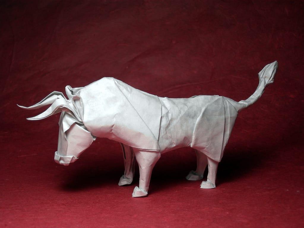 Wet folding bull - Romeo & Julius am 20.11.2020: Gemeinsam Origami falten